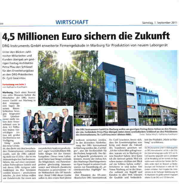 Newspaper Article Oberhessische Presse